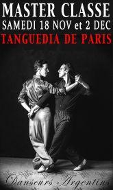 Master Classes Mensuels Avec Rolan et Jorge a la Tanguedia de Paris