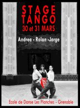 Stage Tango Argentin Avec Andrea Ardito Rolan Van Loor et Jorge Crudo a Grenoble